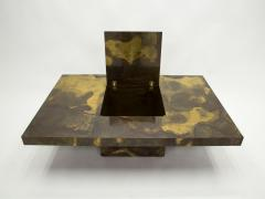 Isabelle Faure Unique Isabelle and Richard Faure brass coffee table 1970s - 1919389