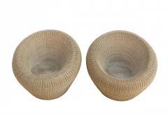 Isamu Kenmochi Rattan Round Chairs by Isamu Kenmochi - 1609691