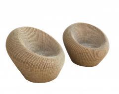 Isamu Kenmochi Rattan Round Chairs by Isamu Kenmochi - 1609693