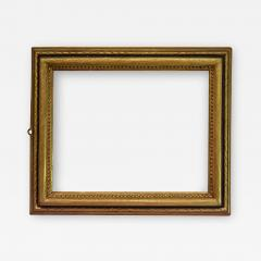 Italian 1650 Gold Black Picture Frame with Large Bead and Bullnose Profilee - 1112620