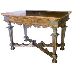 Italian 17th Century Painted and Parcel Gilt Console Table - 1622598