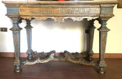 Italian 17th Century Painted and Parcel Gilt Console Table - 1622599