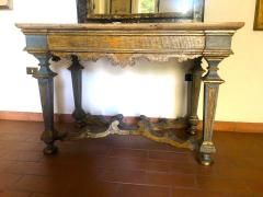 Italian 17th Century Painted and Parcel Gilt Console Table - 1622608