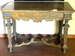 Italian 17th Century Painted and Parcel Gilt Console Table - 1622615