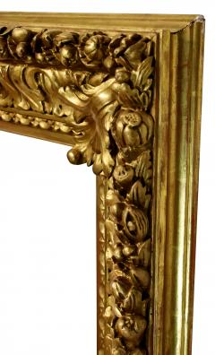 Italian 1850 Baroque Carved Gold Leaf Picture Frame 34x52  - 1071543