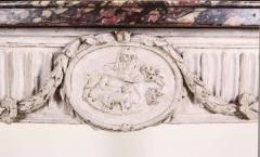 Italian 18th Century Demilune Ivory Painted Console Table Louis XVI Period - 1622620