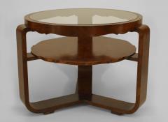 Italian 1940s Burl Walnut Circular Coffee Table - 447288