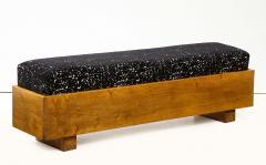 Italian 1940s Walnut Long Bench - 1813646