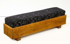 Italian 1940s Walnut Long Bench - 1813650