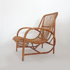 Italian 1940s wicker lounge chair att to Casa E Giardino - 730384