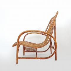 Italian 1940s wicker lounge chair att to Casa E Giardino - 730385