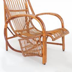 Italian 1940s wicker lounge chair att to Casa E Giardino - 730386