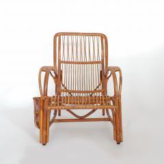 Italian 1940s wicker lounge chair att to Casa E Giardino - 730387