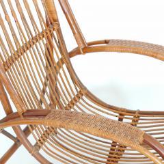 Italian 1940s wicker lounge chair att to Casa E Giardino - 730388