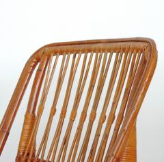 Italian 1940s wicker lounge chair att to Casa E Giardino - 730389