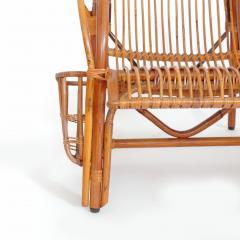 Italian 1940s wicker lounge chair att to Casa E Giardino - 730390