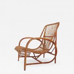 Italian 1940s wicker lounge chair att to Casa E Giardino - 731139
