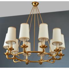 Italian 1950s Circular Ten Branch Chandelier - 316129