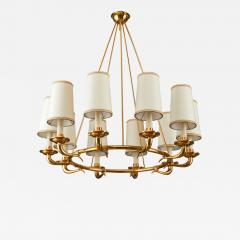 Italian 1950s Circular Ten Branch Chandelier - 316876