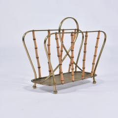 Italian 1950s brass magazine rack - 1469828