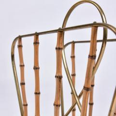 Italian 1950s brass magazine rack - 1469839