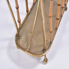 Italian 1950s brass magazine rack - 1469841