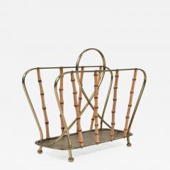 Italian 1950s brass magazine rack - 1473206