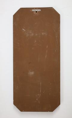 Italian 1960s Rosewood Octagonal Wall Mirror - 2096671