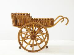 Italian 1970s Bamboo Bar Cart - 2093421