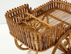 Italian 1970s Bamboo Bar Cart - 2093426