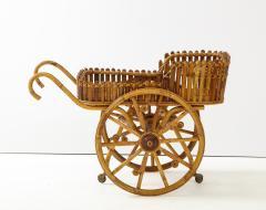Italian 1970s Bamboo Bar Cart - 2093431