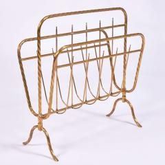 Italian 1970s brass magazine rack - 1495536