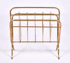 Italian 1970s brass magazine rack - 1495546