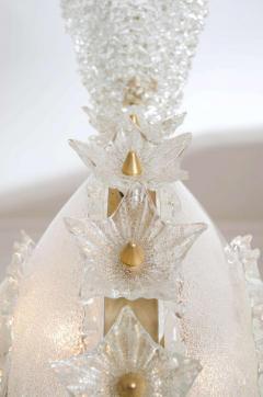 Italian 1970s ornate glass chandelier - 720587