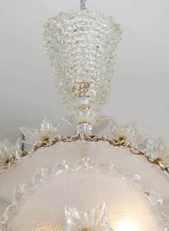 Italian 1970s ornate glass chandelier - 720588