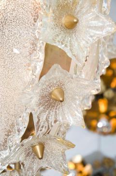 Italian 1970s ornate glass chandelier - 720589