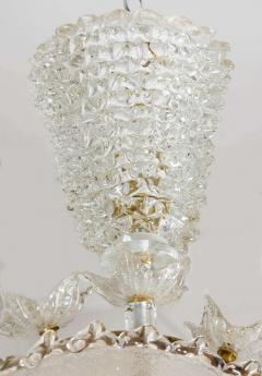 Italian 1970s ornate glass chandelier - 720590