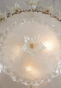 Italian 1970s ornate glass chandelier - 720591