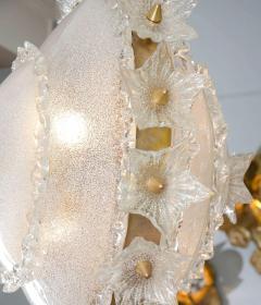 Italian 1970s ornate glass chandelier - 720593