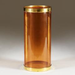 Italian 1980s amber and brass umbrella stand - 2014060
