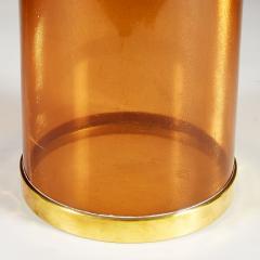 Italian 1980s amber and brass umbrella stand - 2014064