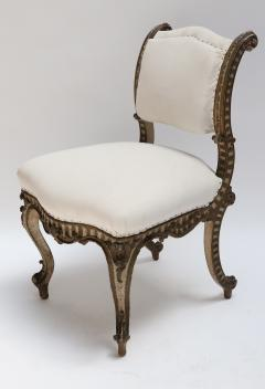Petite Chair italian 19th century carved wood petite chair