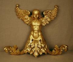 Italian 19th Century Gilded Angel - 1424806