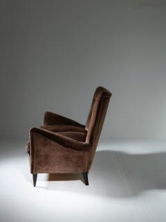 Italian 50s Velvet Settee - 1457237