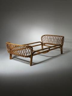 Italian 60s Wicker Daybed - 1457206