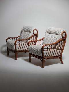 Italian 60s Wicker Lounge Chairs - 1502073