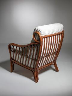 Italian 60s Wicker Lounge Chairs - 1502074