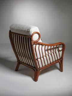 Italian 60s Wicker Lounge Chairs - 1502076