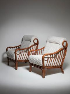 Italian 60s Wicker Lounge Chairs - 1502077