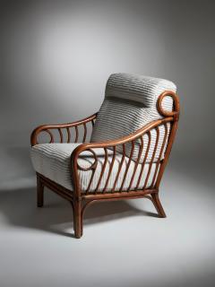 Italian 60s Wicker Lounge Chairs - 1502078
